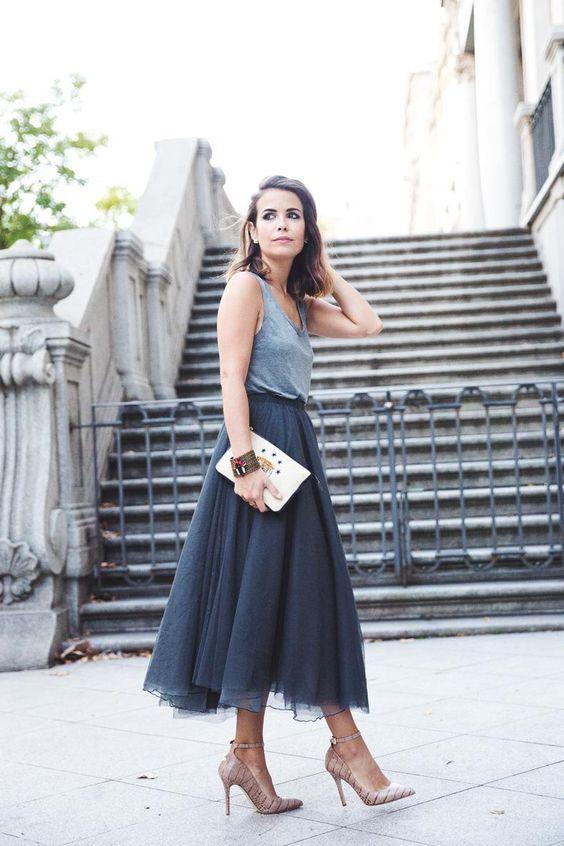 falda con tul