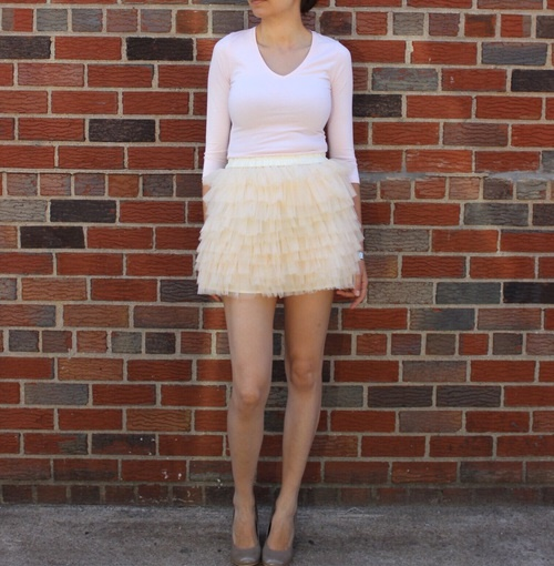 falda tul corta