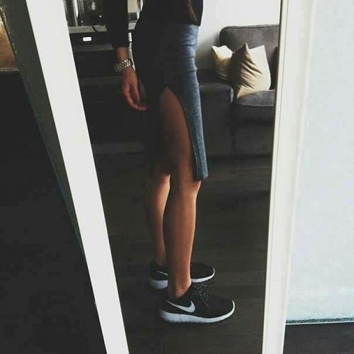 faldas a la rodilla