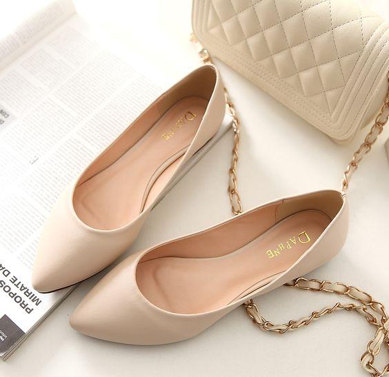 Zapatos bajitos para vestido de noche