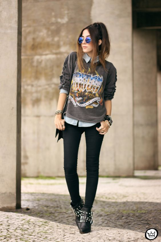 grunge genial look