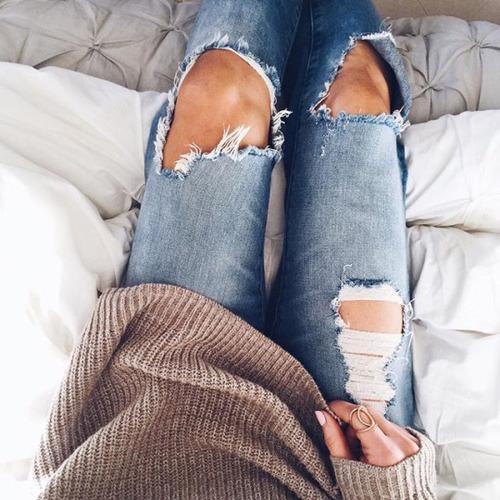 jeans rotos azules