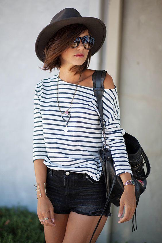 lentes negros sombrero