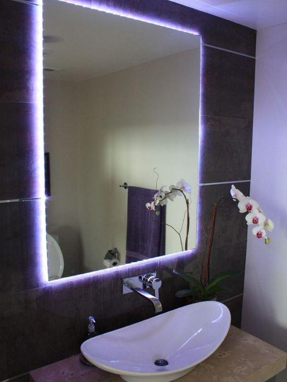 luces neon espejo