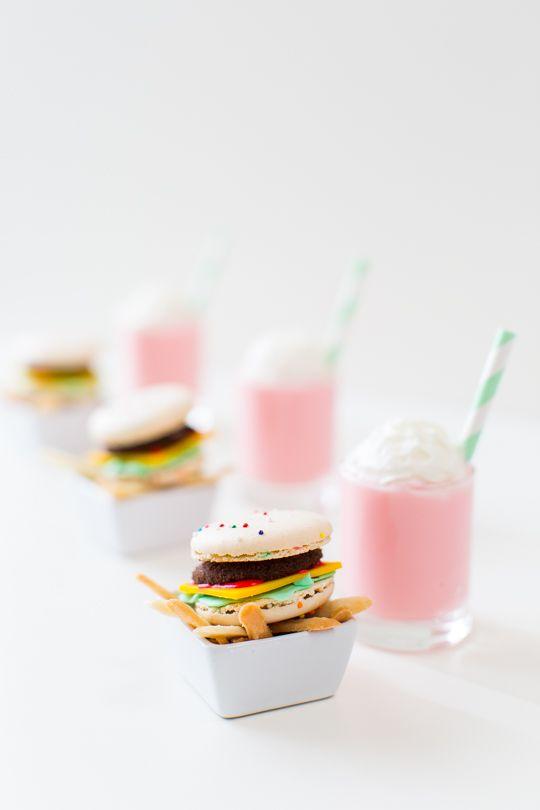macaron hamburguer
