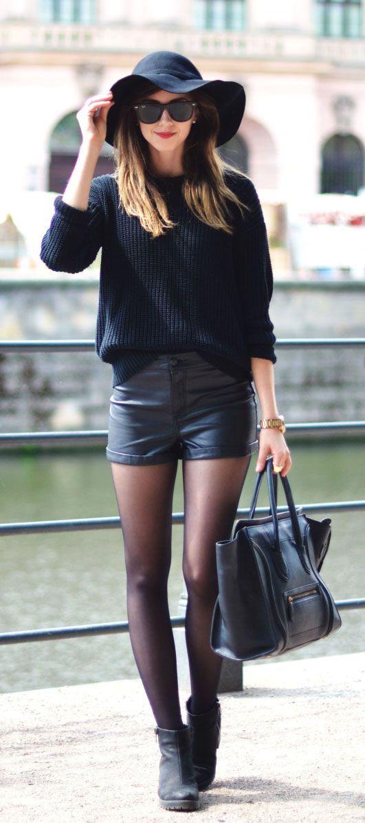 negro botines