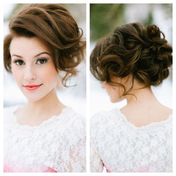 peinado novia corto