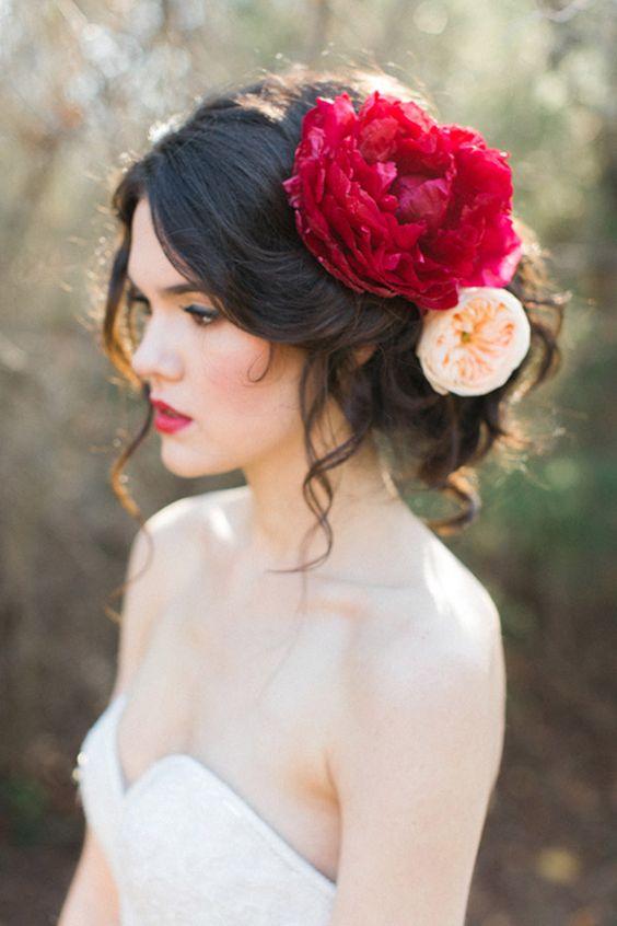 16 peinados que te har n ver hermosa en tu vestido de novia - Peinados elegantes para una boda ...