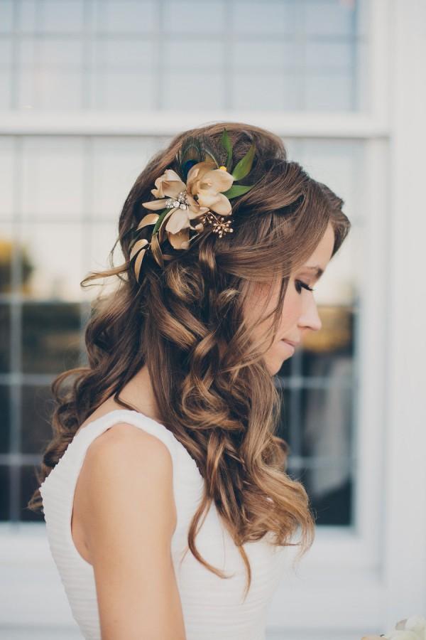 peinados novia cute