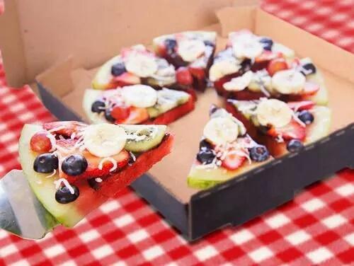 pizza fruta