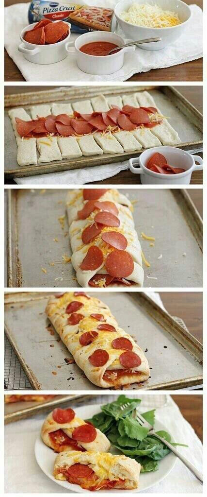 pizza trenza