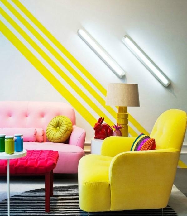 rayas neon amarillas