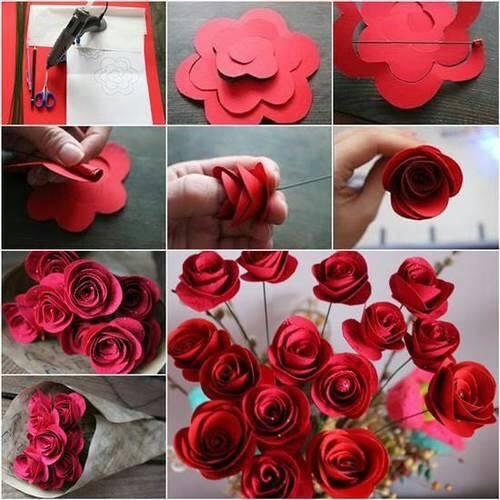 rosas papeles