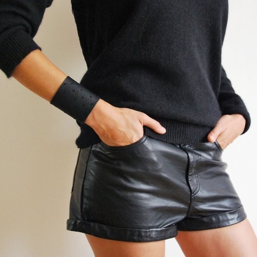 short leather