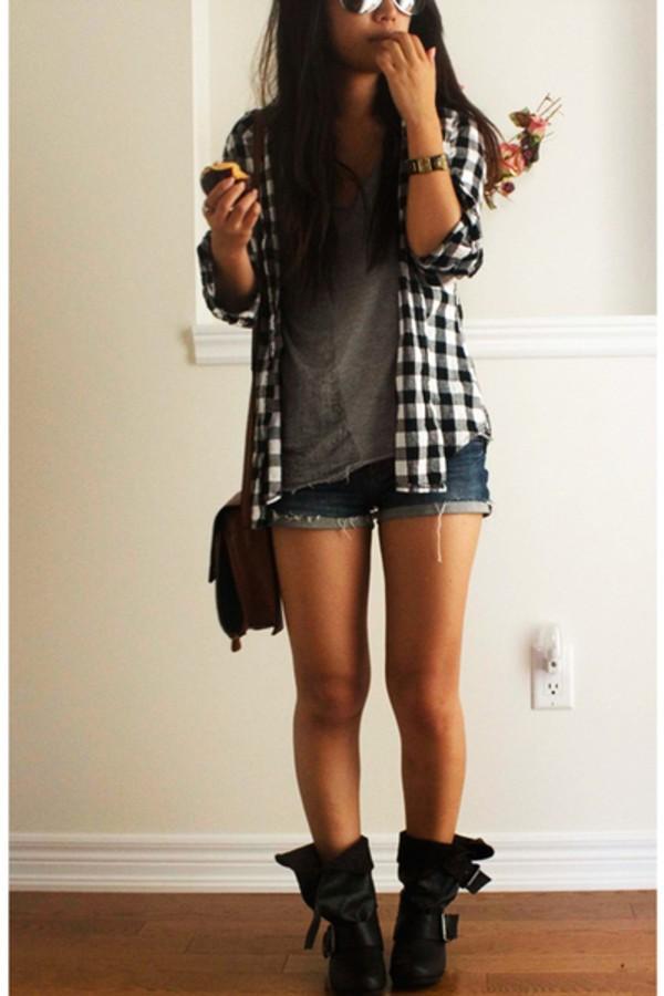 shorts camisa franela