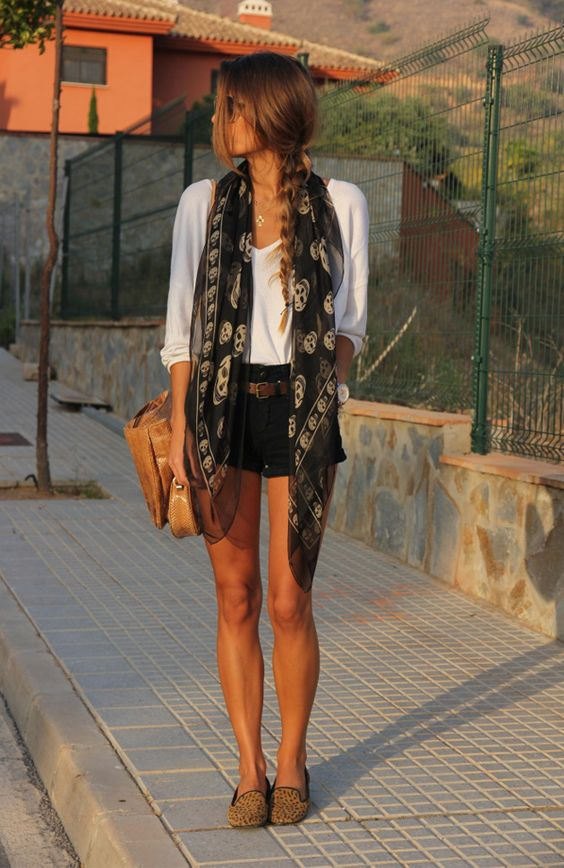 shorts negros outfit