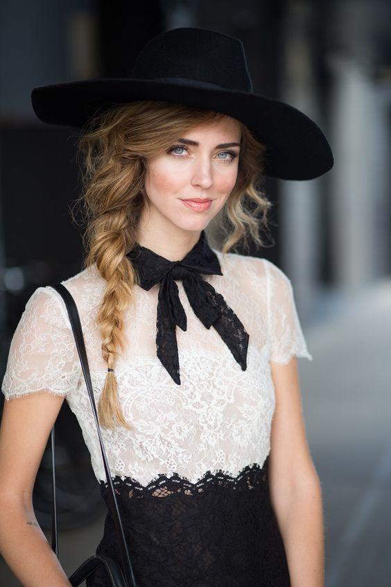 trenza sombrero