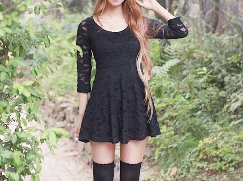 vestidos lindos negros