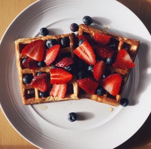 waffle desayuno