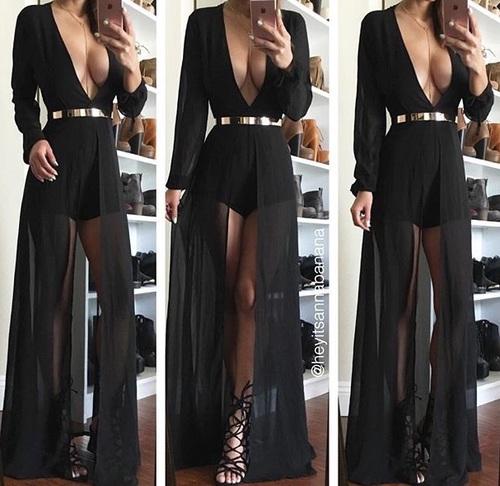black long dres