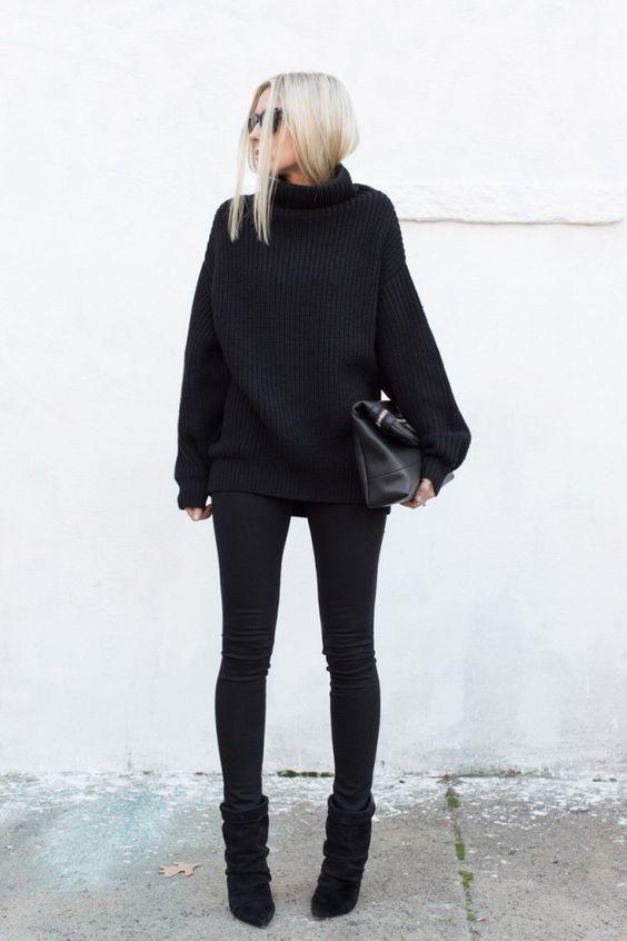 botas atuendo negro