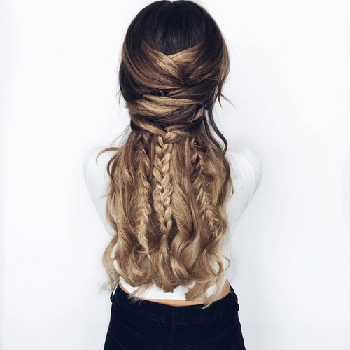 cabello largo peinado nice