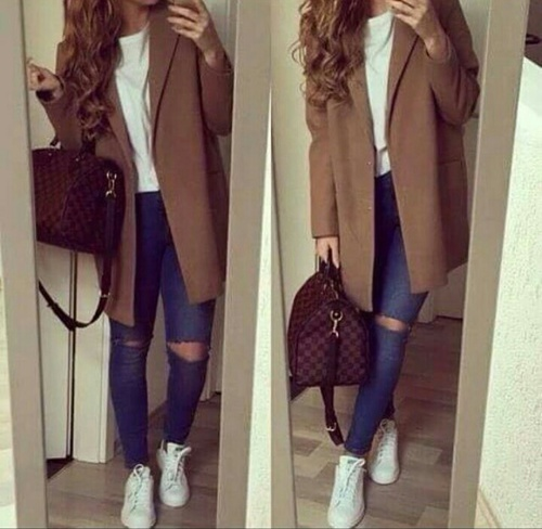 coat outfit girl