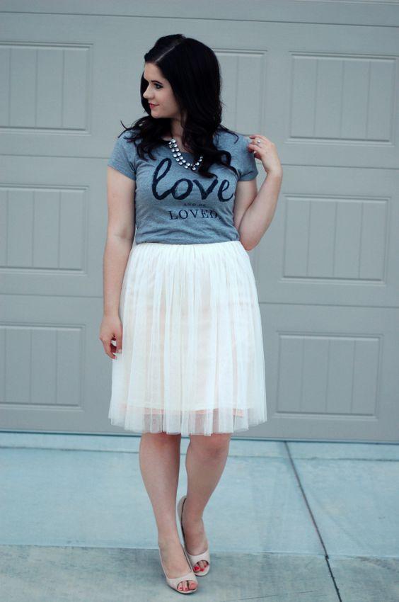 falda blanca curvy
