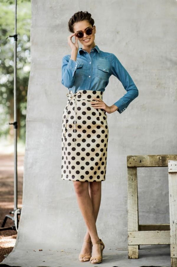 falda con puntos