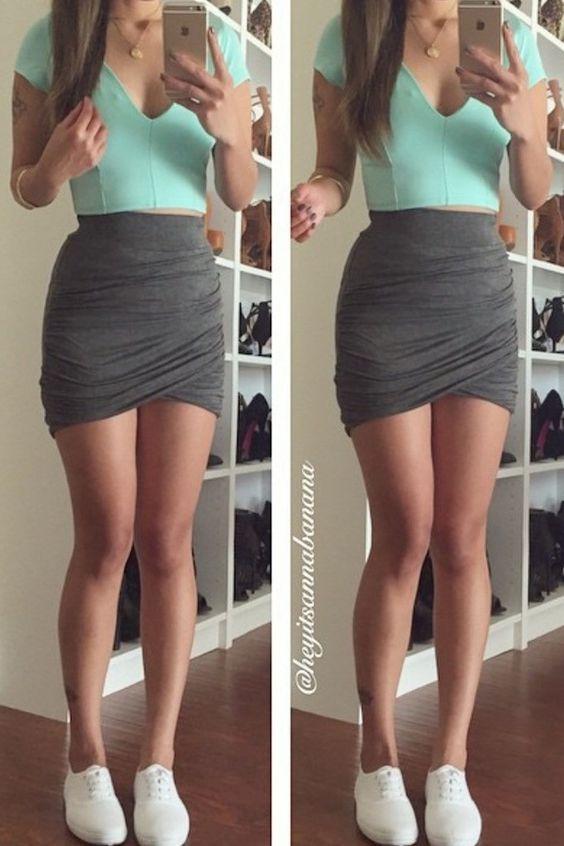 falda con top