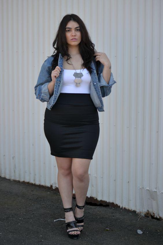 falda curvy