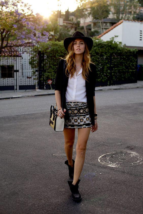 falda sombrero