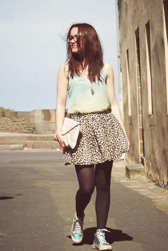 falda y -medias