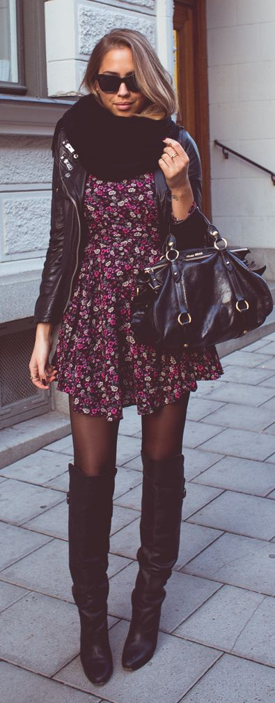 Como usar vestido estampado com bota