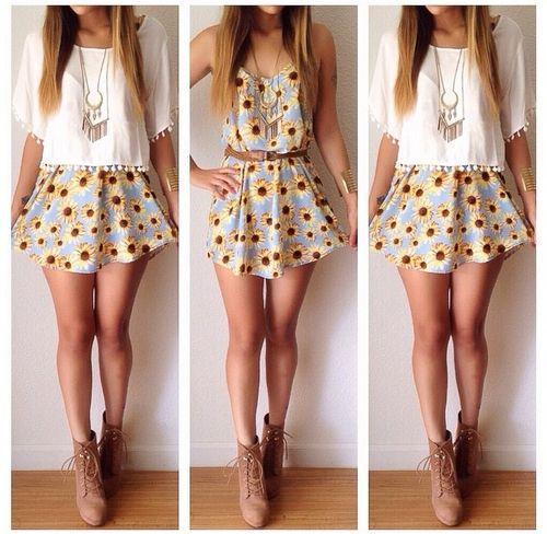 girasoles vestido