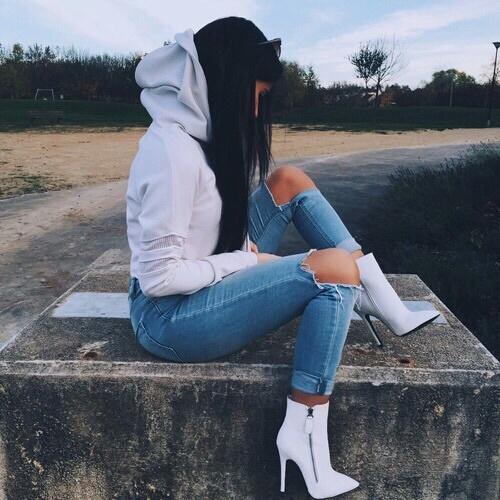 hoodie jeans