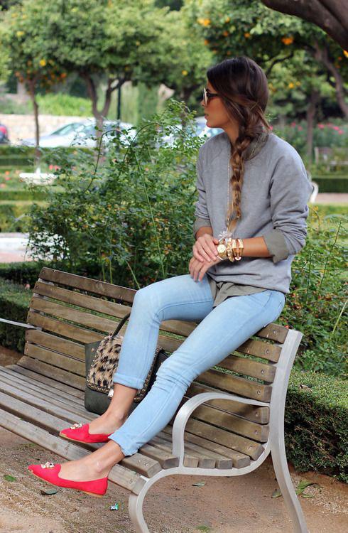 jeans- sweatshirts