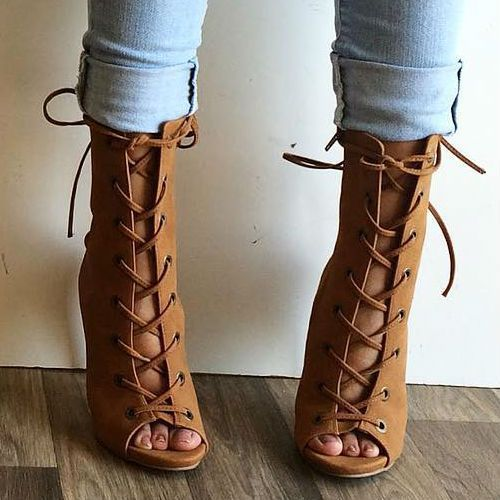 lace up -heels