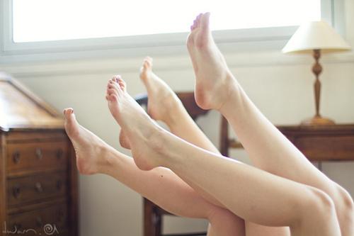 pies niñas