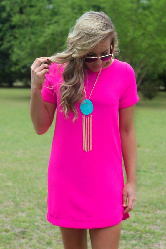 pink neon dress