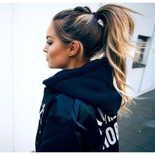 ponytail hoodie