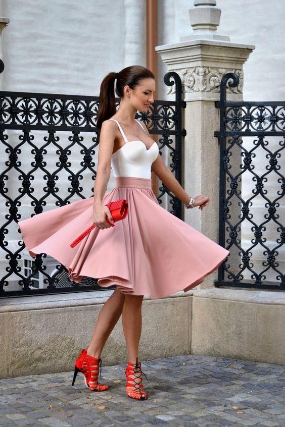Ideas para combinar tus tacones rojos con el resto de tu ropa