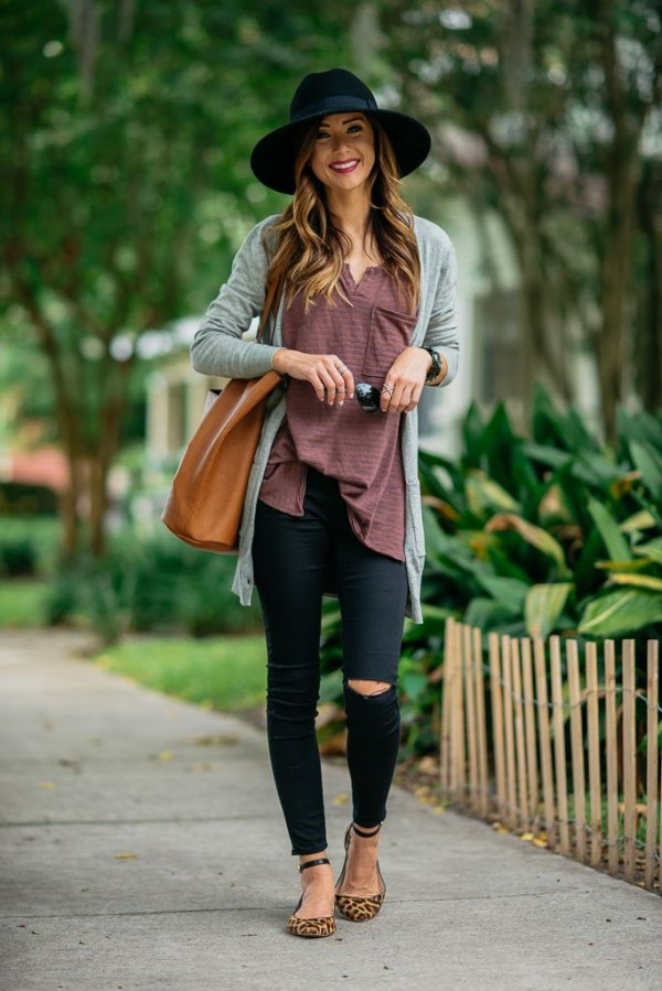 Outfits Con Ripped Jeans Negros Para Ser La Chica Con M 225 S