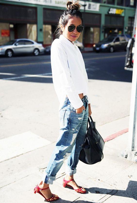 sandals jeans