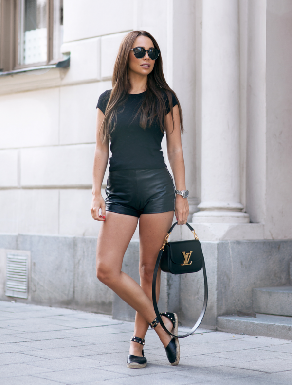 shorts-negros-outfits-cute