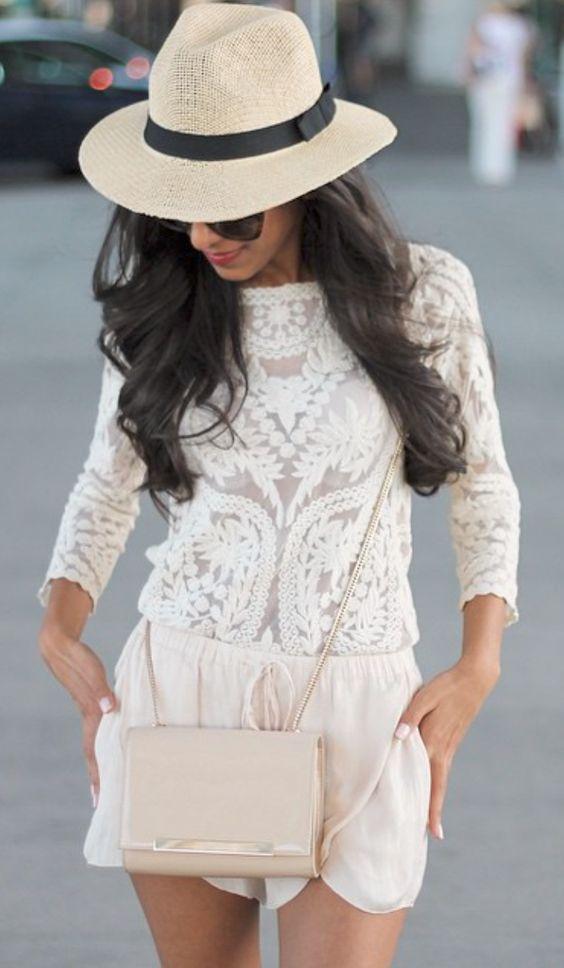 sombrero blanco outfit