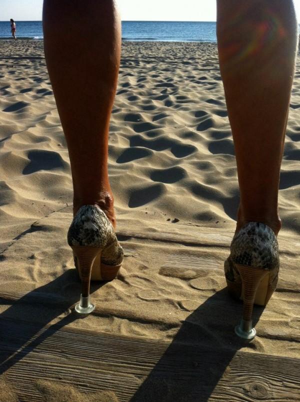 tacones playa