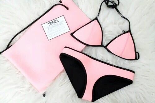 triangl bikini rosa