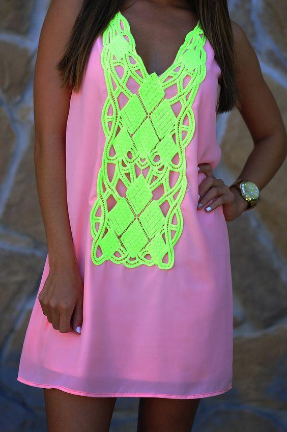 vestidos neones