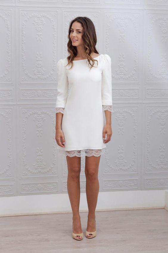 vestido de novia x el civil